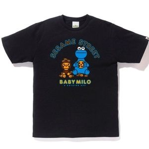 BAPE x Sesame Street Cookie Monster Black T-shirt